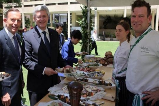 Abbott sajikan daging panggang untuk pemimpin G20
