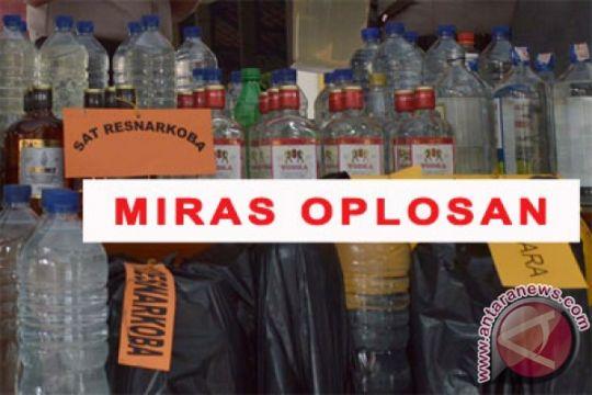 Polres Bantul amankan ratusan botol minuman keras
