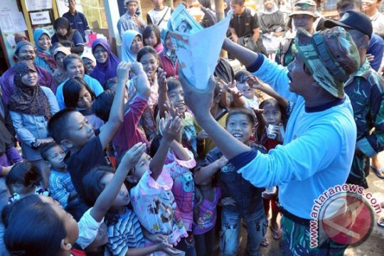 Pergerakan tanah akibatkan puluhan mengungsi di Sukabumi