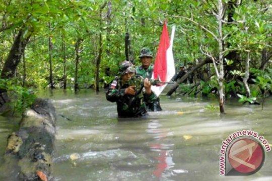 TNI AL soroti bergesernya patok perbatasan di Pulau Sebatik