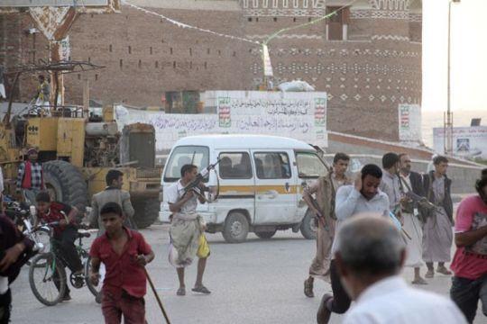 Warga Yaman protes peta jalan damai PBB