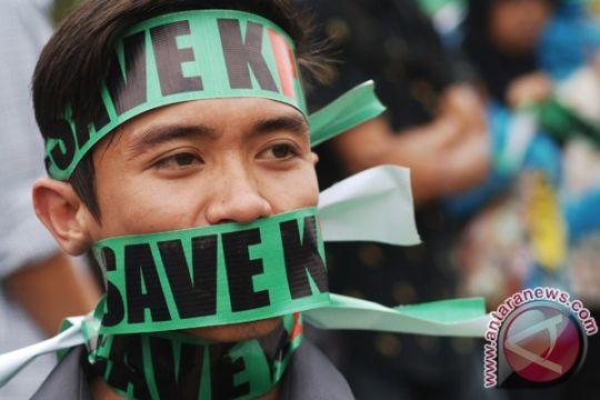 Warga Solo aksi damai keprihatinan terhadap KPK