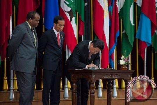 Jokowi, Xi Jinping, Mswati III tandatangani Bandung Message