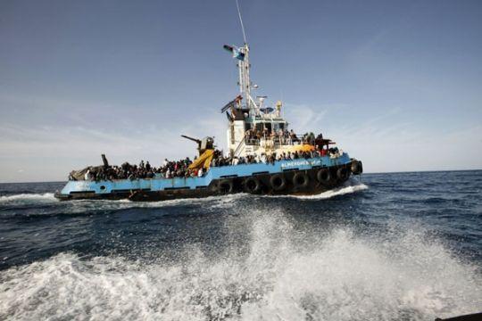 Perahu karet pembawa migran tenggelam di pantai Libya