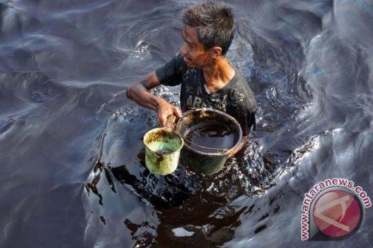 Ratusan warga di Paser Utara, Kaltim, terdampak kebocoran minyak pipa Pertamina
