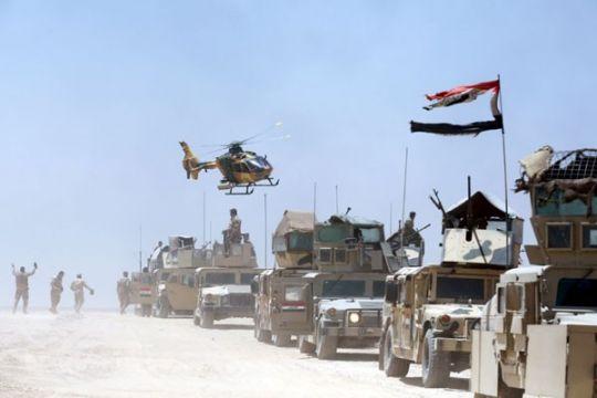 Irak bom posisi ISIS di Suriah