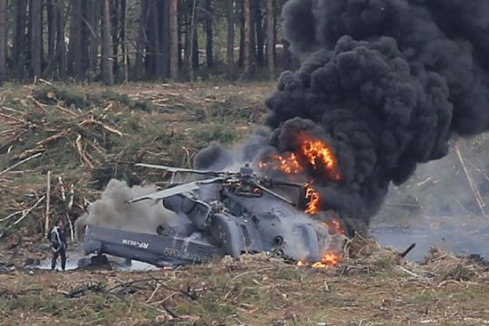 Pilot tewas saat akrobat di pameran dirgantara Rusia