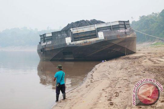 Sungai Barito surut angkutan terganggu