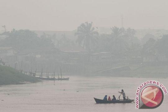 Jarak pandang di tiga daerah Riau hanya 100 meter