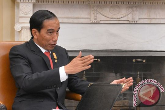 Presiden rapat di rumah dinas Bupati OKI