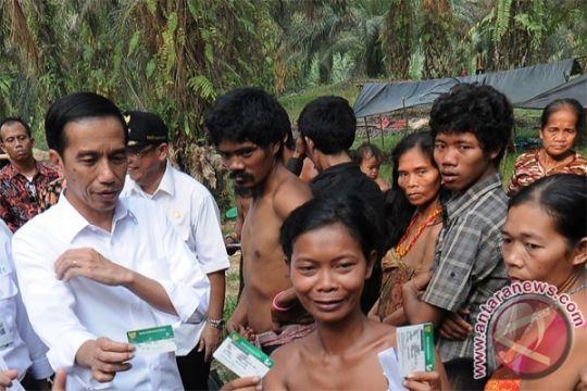 BENCANA ASAP - Presiden Jokowi sapa Suku Anak Dalam