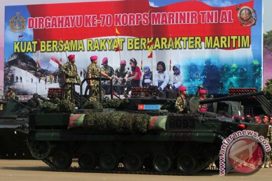 Korps marinir TNI AL peringati HUT ke-70