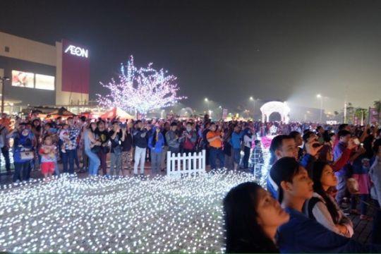 Malam pergantian tahun meriah di AEON MALL BSD CITY