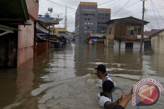 75 persen wilayah Kabupaten Bangka Tengah terendam banjir