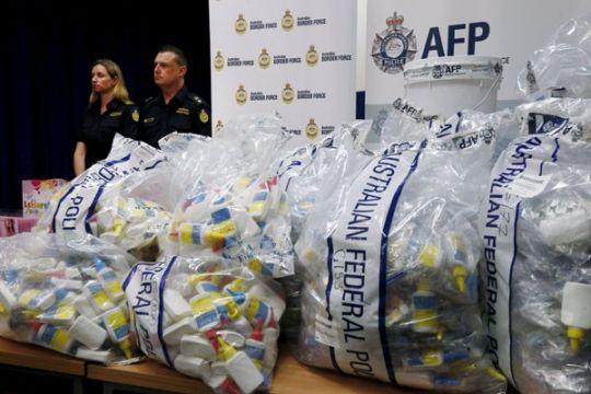 Polisi Australia sita metamfetamin senilai 1,25 miliar dolar
