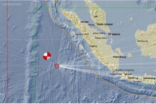BMKG: 12 kali gempa susulan di Mentawai