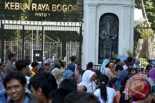 Tiga hari Libur panjang, 17.099 pengunjung padati Kebun Raya Bogor