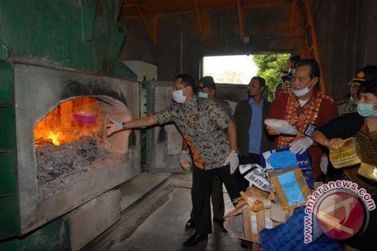 BNN musnahkan 107 kg sabu dan 59.470 ekstasi