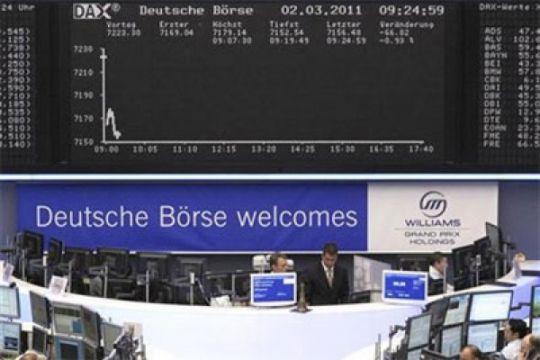 Saham-saham di Jerman jatuh, Indeks DAX-30 ditutup anjlok 2,76 persen