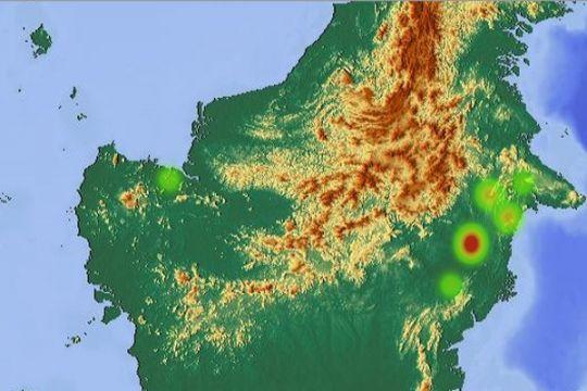 Enam titik panas terpantau di Kotawaringin Timur