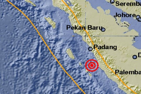 Gempa 5,0 SR guncang Padang