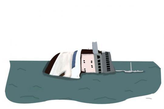 Kapal terbalik di Laut Kuning China, empat orang hilang