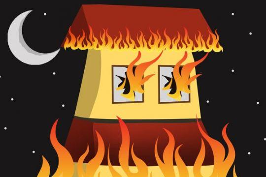 Kebakaran malam landa Pamekasan di malam Lebaran