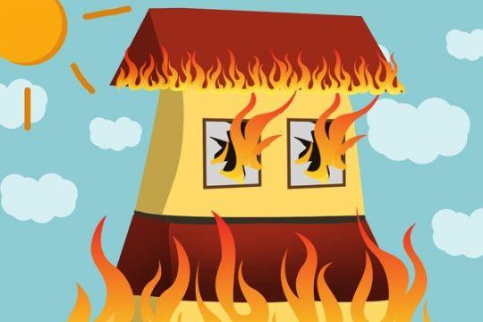 Kebakaran hanguskan tiga rumah di Sunter Agung