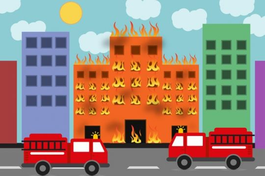 Penyebab kebakaran asrama DDI diduga karena arus pendek