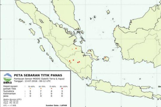 127 titik panas terpantau di Sumatera