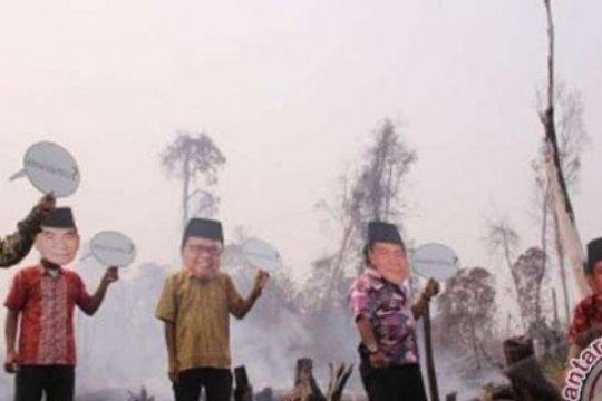 LSM minta Kapolda Riau tangkap perusahaan pembakar lahan