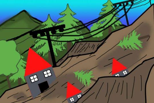 4 rumah rusak akibat tanah longsor di Jember