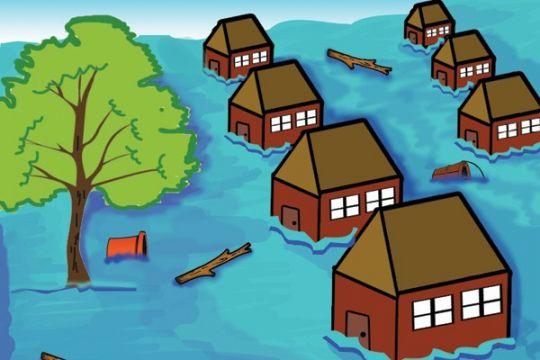 Banjir di Garut seret lima mobil