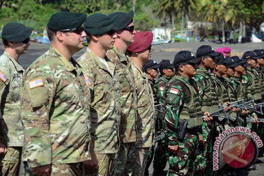 Marinir Indonesia dan AS latihan bersama