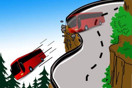 Korlantas Polri menganalisis penyebab bus masuk jurang