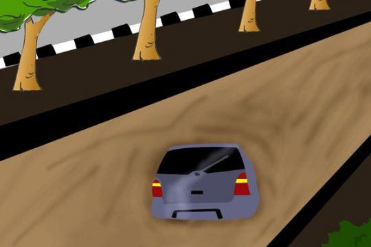 Sopir mobil pengangkut puing tenggelam di Kalimalang