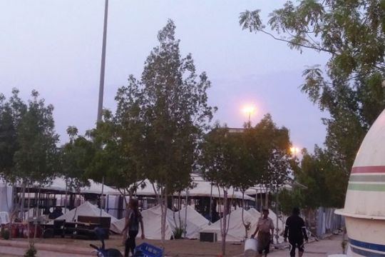 Menag sapa jamaah di tenda Arafah