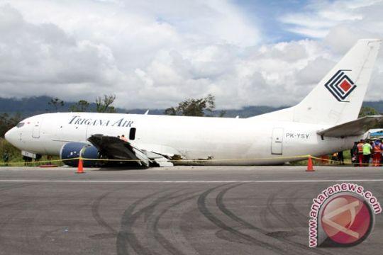 Pesawat kargo Trigana tergelincir di bandara Wamena