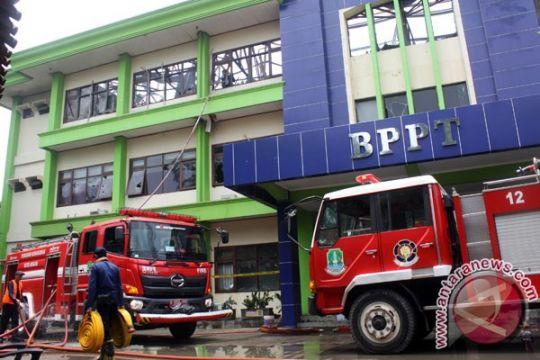 Polisi bawa tiga sampel kebakaran BPPT Bekasi