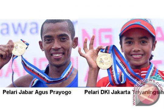 PON 2016 - Agus Prayogo dan Triyaningsih raih emas maraton