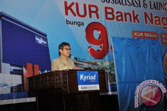 Bank Nagari Bukittinggi sudah kucurkan 72,45 persen target KUR