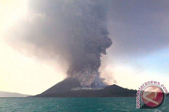 Kapolres-Dandim pantau aktivitas Gunung Anak Krakatau pascaerupsi kedua