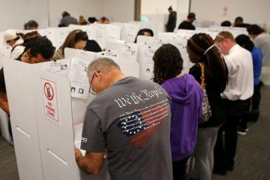 Masyarakat Amerika semangat ikuti pemilu paruh waktu 2018