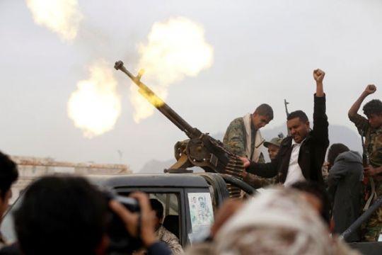 Jet tempur koalisi jadi sasaran serangan rudal di Yaman