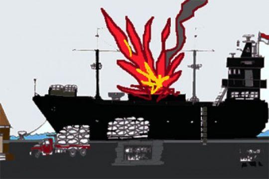 Korban kapal meledak di perairan Nias-Sumut masih seorang belum ditemukan