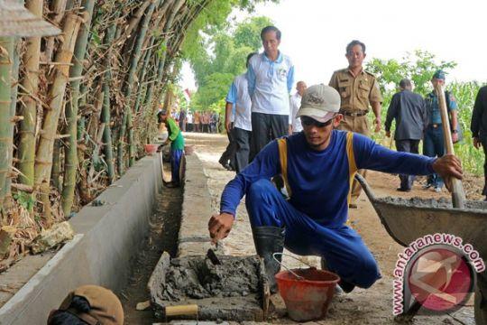 Presiden tinjau pembangunan irigasi di Sleman