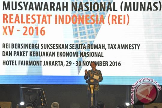 Presiden minta anggota REI ikut amnesti pajak