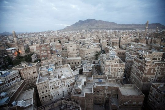 Rumah-rumah Kota Tua Sana'a di Yaman roboh diterjang hujan deras