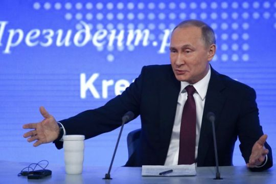 """Komentar Vladimir Putin soal serangan siber global """"ransomware"""""""