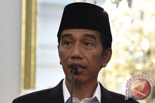 Presiden shalat tarawih di Masjid Al-Muslimun Bogor
